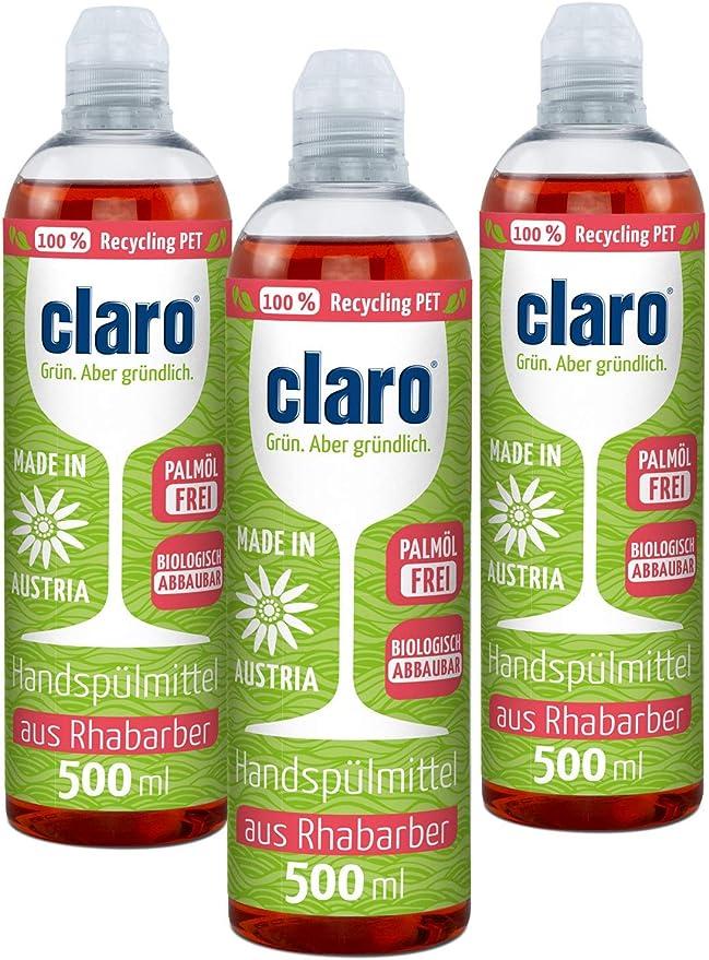 CLARO 4 x 500 ml Detergente Ecológico para el Lavado de Vajilla ...