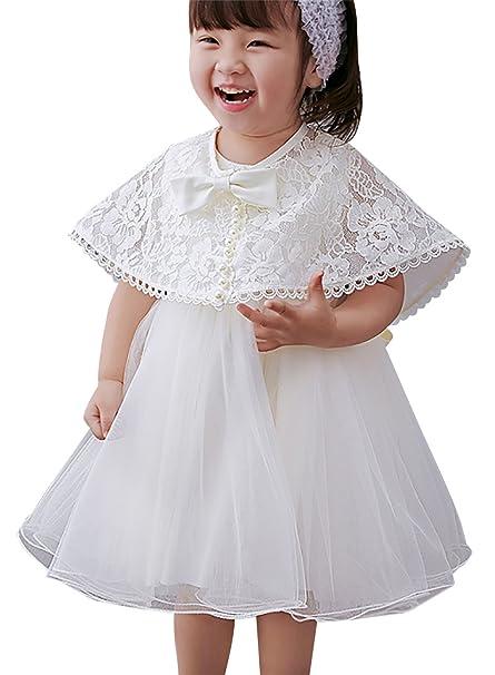 Happy Cherry - set de 2 Vestido Bebés Niñas de Tul para Bautizo Fiesta Boda Princesa