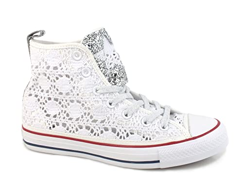 SNEAKER CONVERSE ALL STAR 1C16SP14 ALTA PIZZO BIANCA