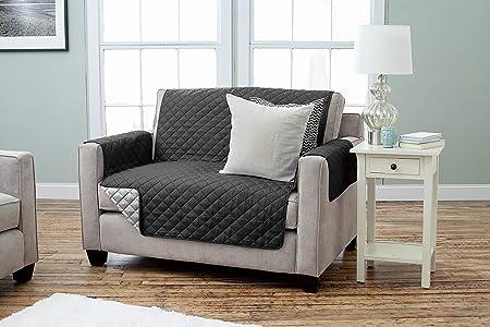 Kamaca - Funda para sillón Reversible con reposabrazos y Bolsillos, cálida y Suave, para Proteger el Respaldo del Asiento, poliéster, Braun - Beige, ...