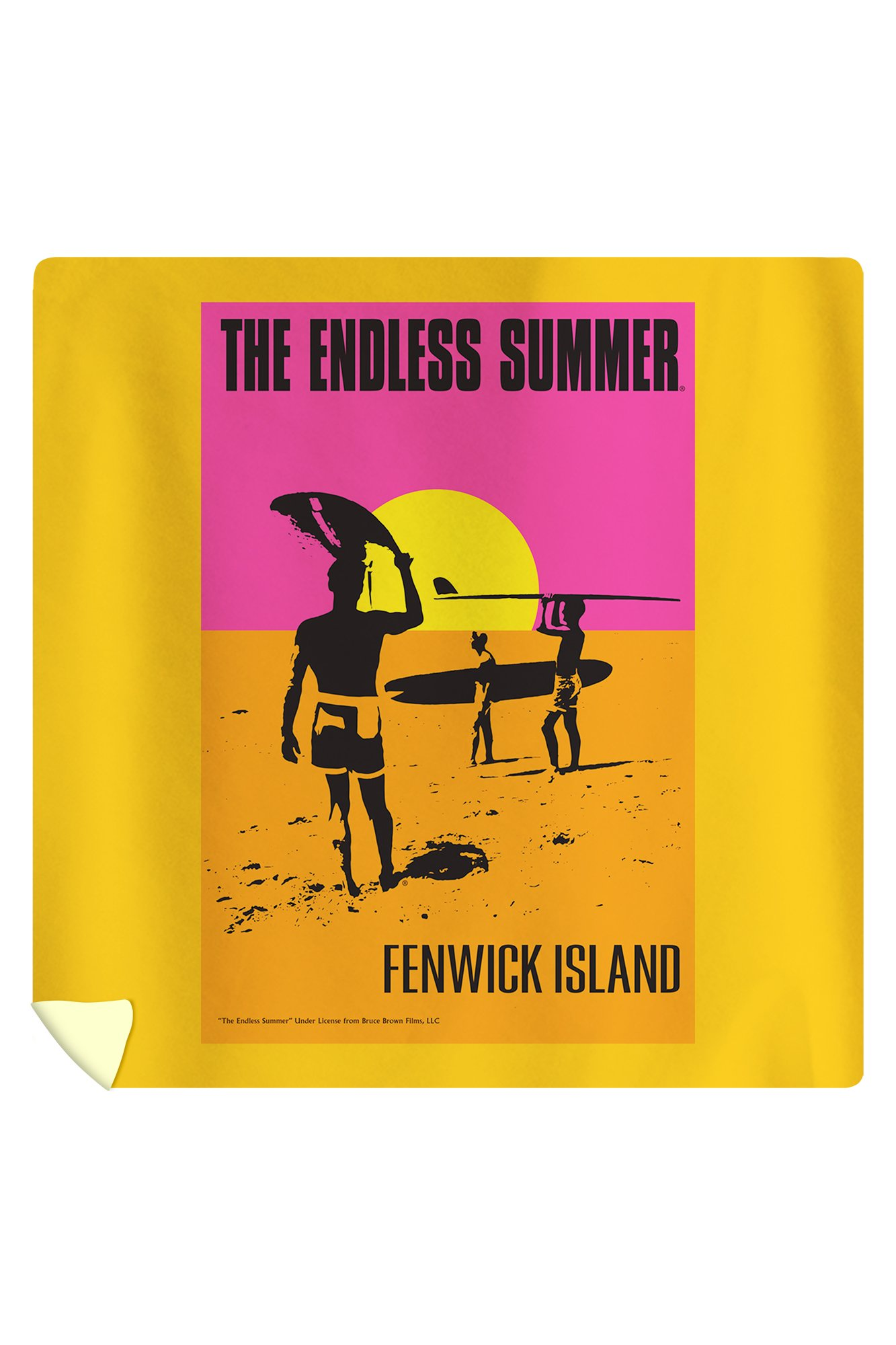 Fenwick Island, Delaware - The Endless Summer - Original Movie Poster (88x88 Queen Microfiber Duvet Cover)