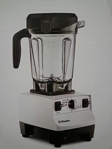 Vitamix 6500 Improved 6300 More Powerful, Fits Under Cabinet Model, Featuring 3 Pre-Programmed Settings, White