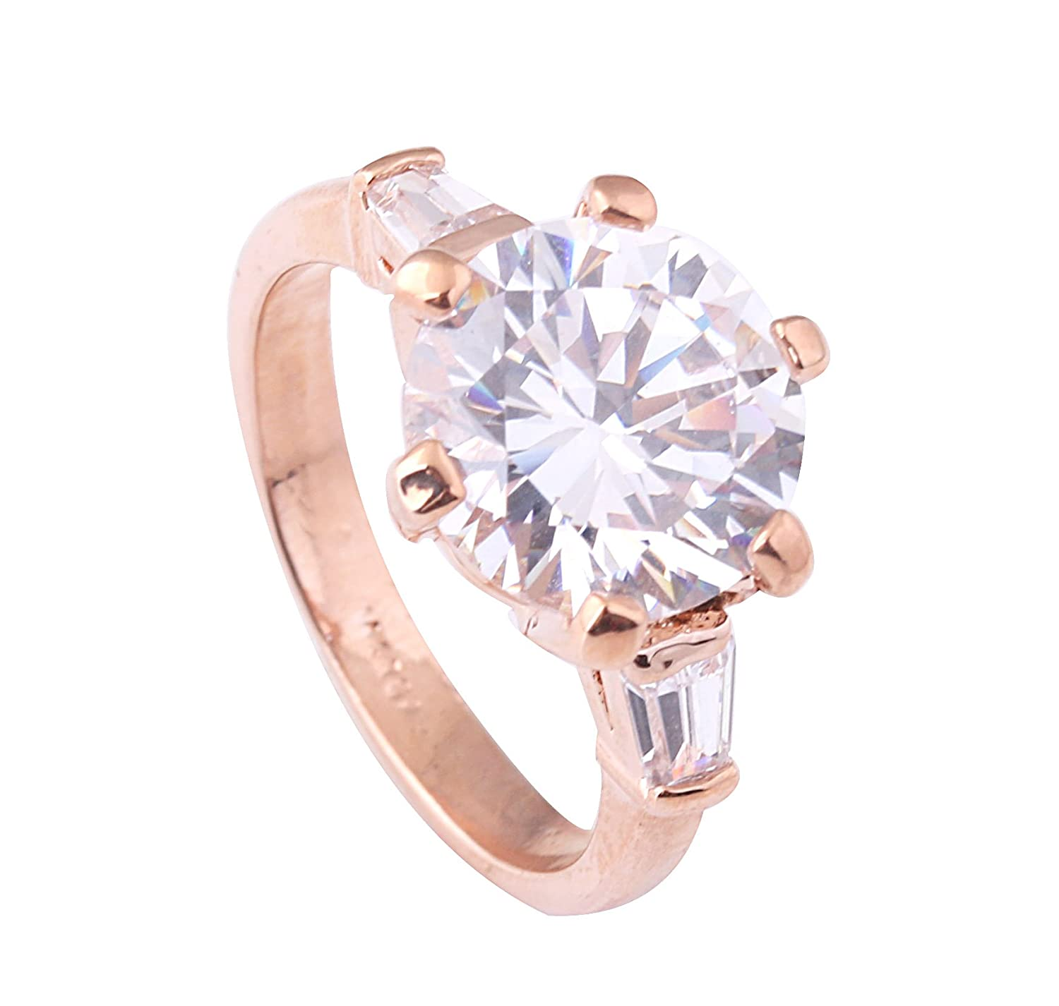 Acefeel Shining Six-claw Large Austrian Drilling Wedding Promise Engagement Ring R120