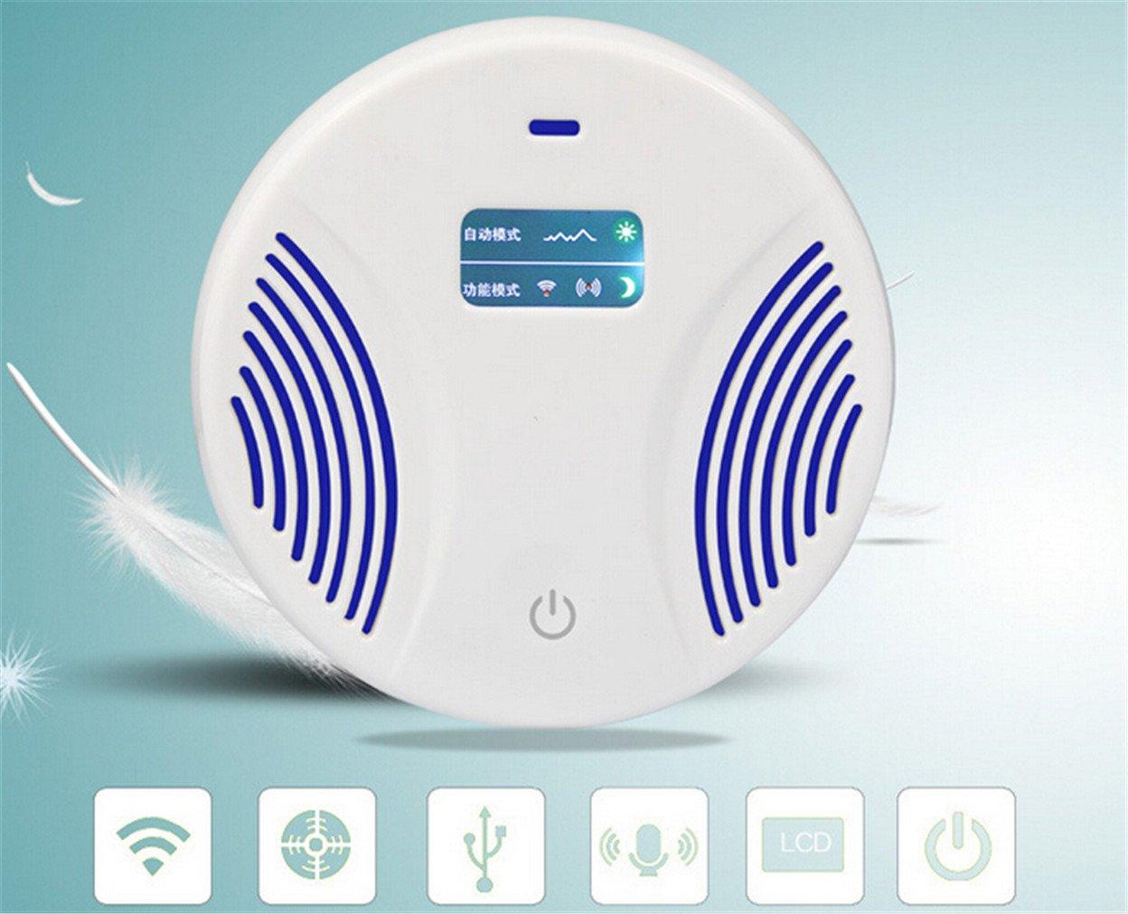 miruike repelente ultrasónico de control electrónico de plagas redondo Repel ratón, cama Bugs, Mosquitos, arañas, cucarachas, humanos y mascotas: Amazon.es: ...