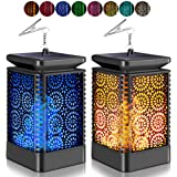 Upgraded Solar Lantern Lights, CrazyFire Outdoor Hanging Lantern with 8 Lights Modes, Waterproof Solar Powered Dancing Flame