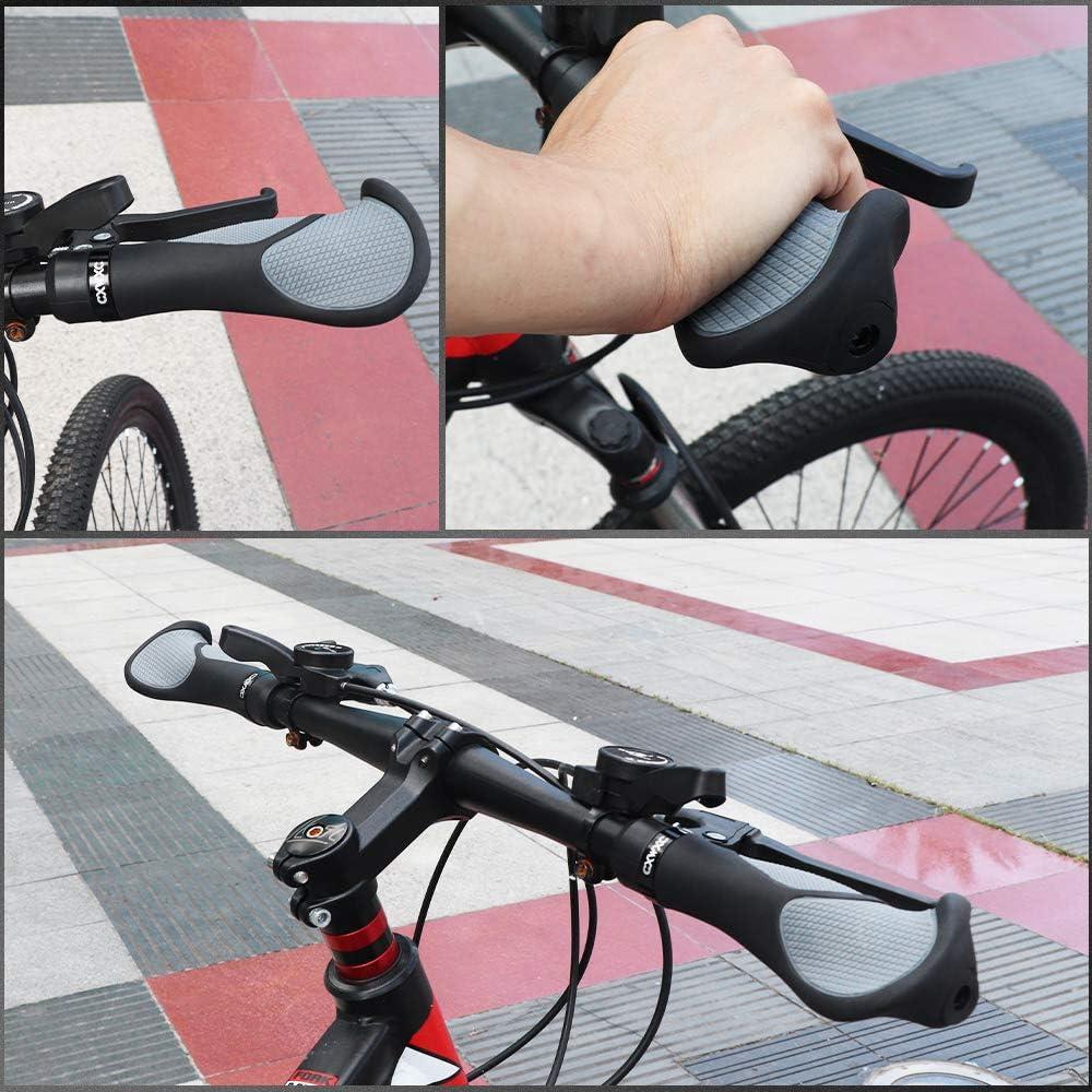 Pu/ños Bicicleta Antideslizante Pu/ños MTB Ergonomicos para Monta/ña Bici Plegable Pu/ños de Manillar Bicicleta Scooter Pu/ños