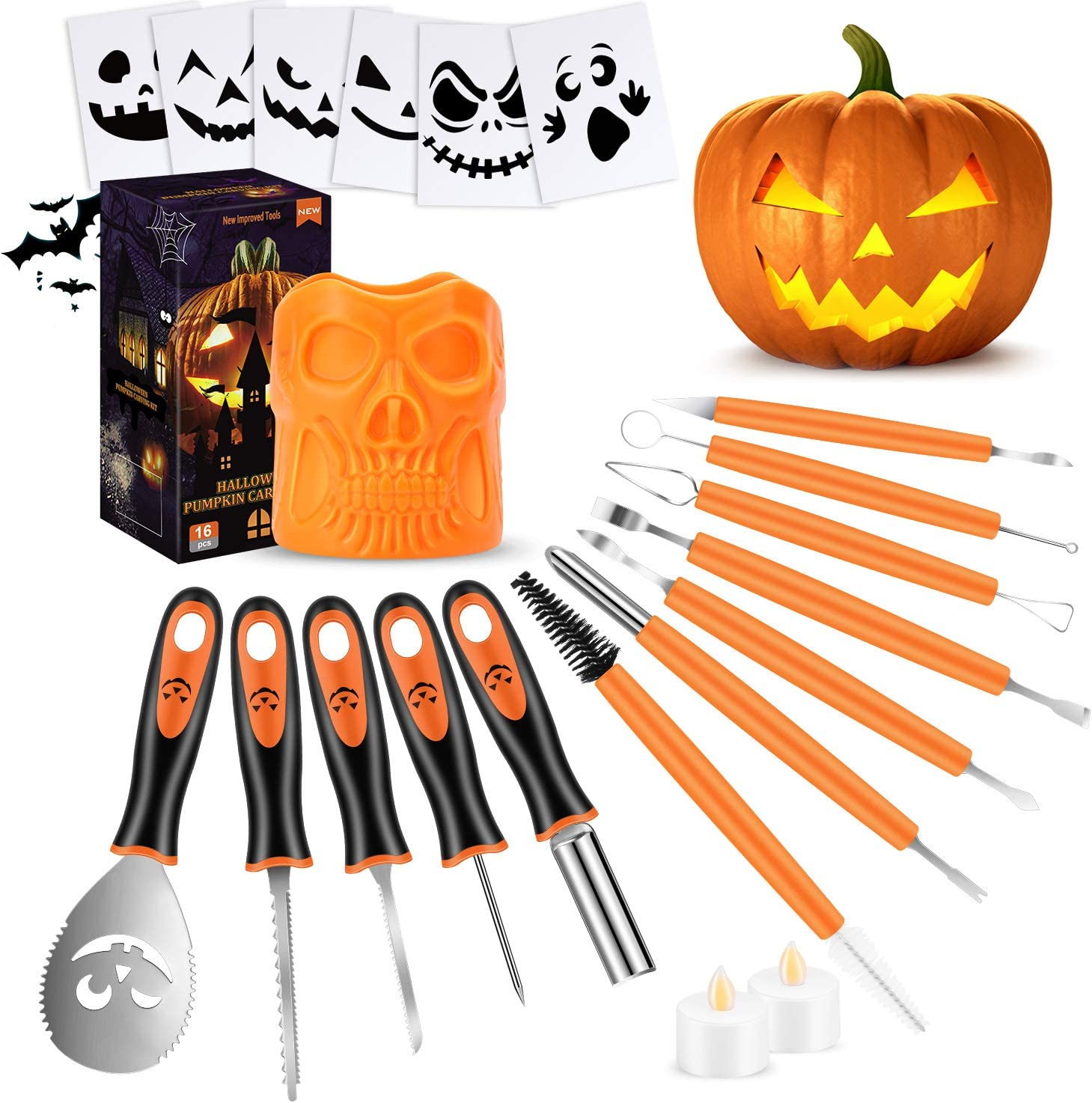 21 PCS Pumpkin Carving Tools Kit