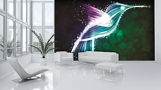 Neon Hummingbird Blue And Purple Wallpaper Mural Amazon Com