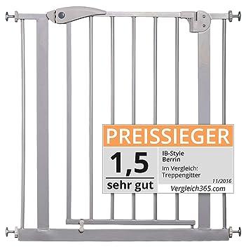 IB-Style/® Berrin Treppengitter 67-175 I Auto-Close I 90/°Stop I Einhand-Bedienung