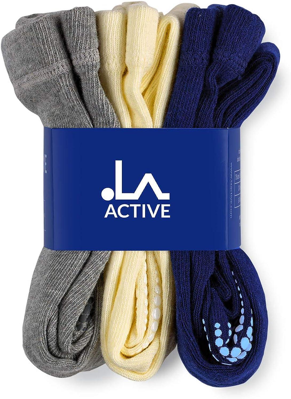 LA Active Baby Tights Baby Toddler Kids Non Skid//Slip Grip Cotton