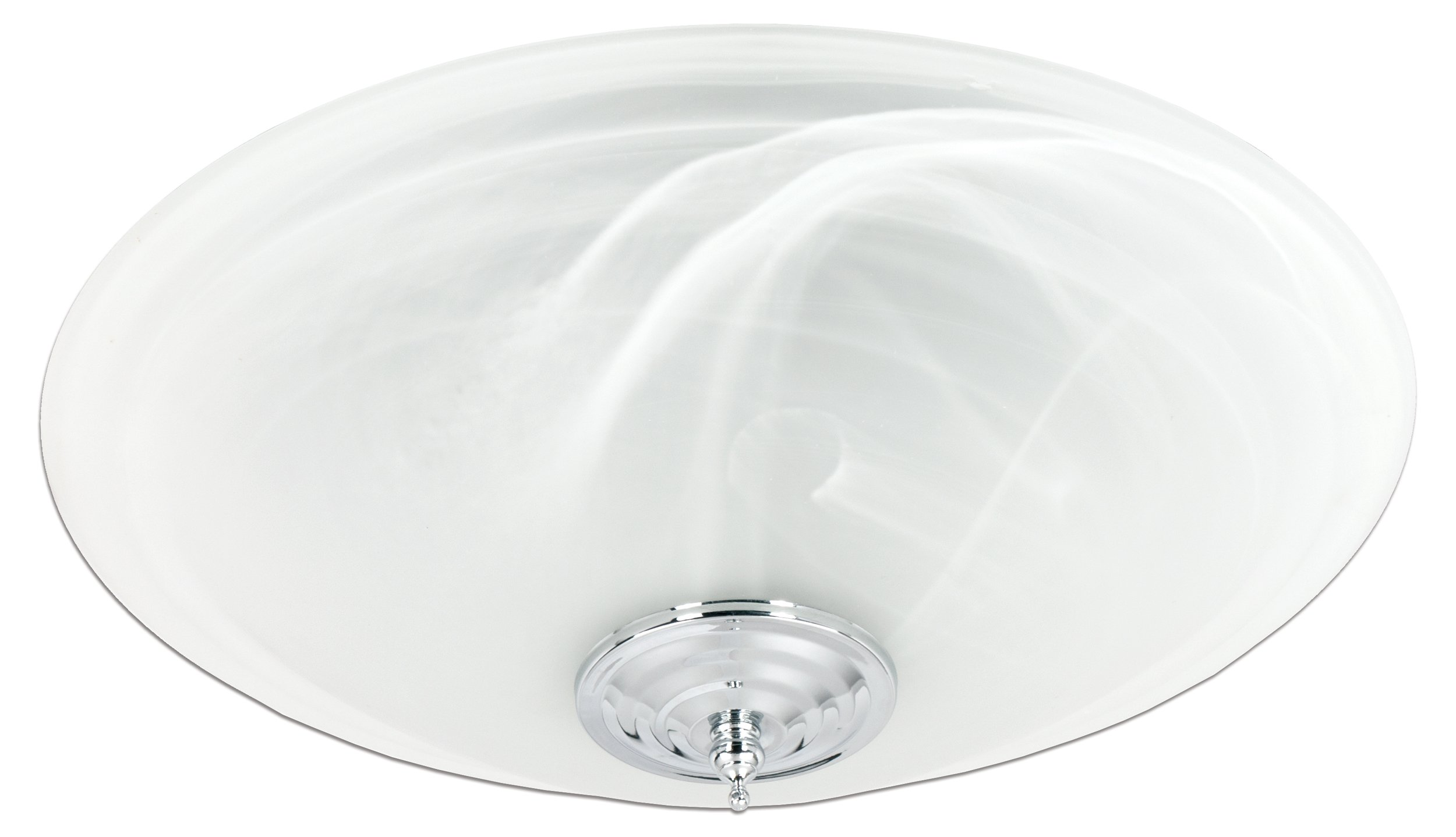 Delta BreezGreenBuilder GBR100LED-DÉCOR 100 CFM Exhaust Bath Fan with Stylish Frosted Glass Dimmable LED Light