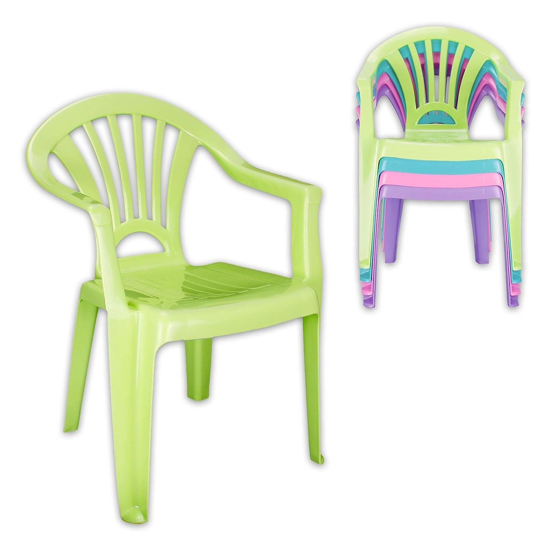 4er SET Kinderstuhl aus Kunststoff in 4 Farben