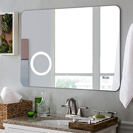 Amazon tangkula led mirror wall mount lighted mirror bathroom tangkula led mirror wall mount lighted mirror bathroom bedroom home furniture illuminated vanity make up lamp aloadofball Images