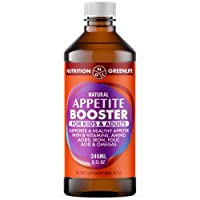 Appetite Booster Weight Gain Stimulant Supplement Eat More for Underweight Kids & Adults Fortified with Omega 3,6,9 + Vitamins B1,B2,B3,B5,B6,B12, Folic Acid , Iron, Zinc, Amino Acids, Flax Seed Oil
