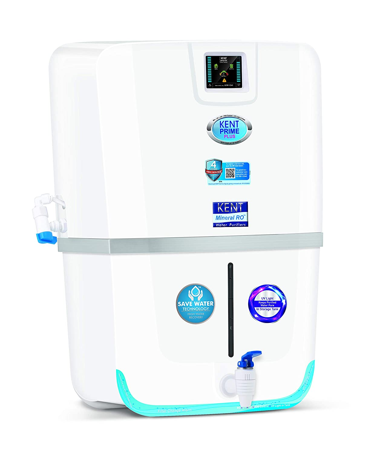 5c0256e0cf8 KENT Prime Plus 11065 20-Litre RO Water Purifier (White)  Amazon.in  Home    Kitchen