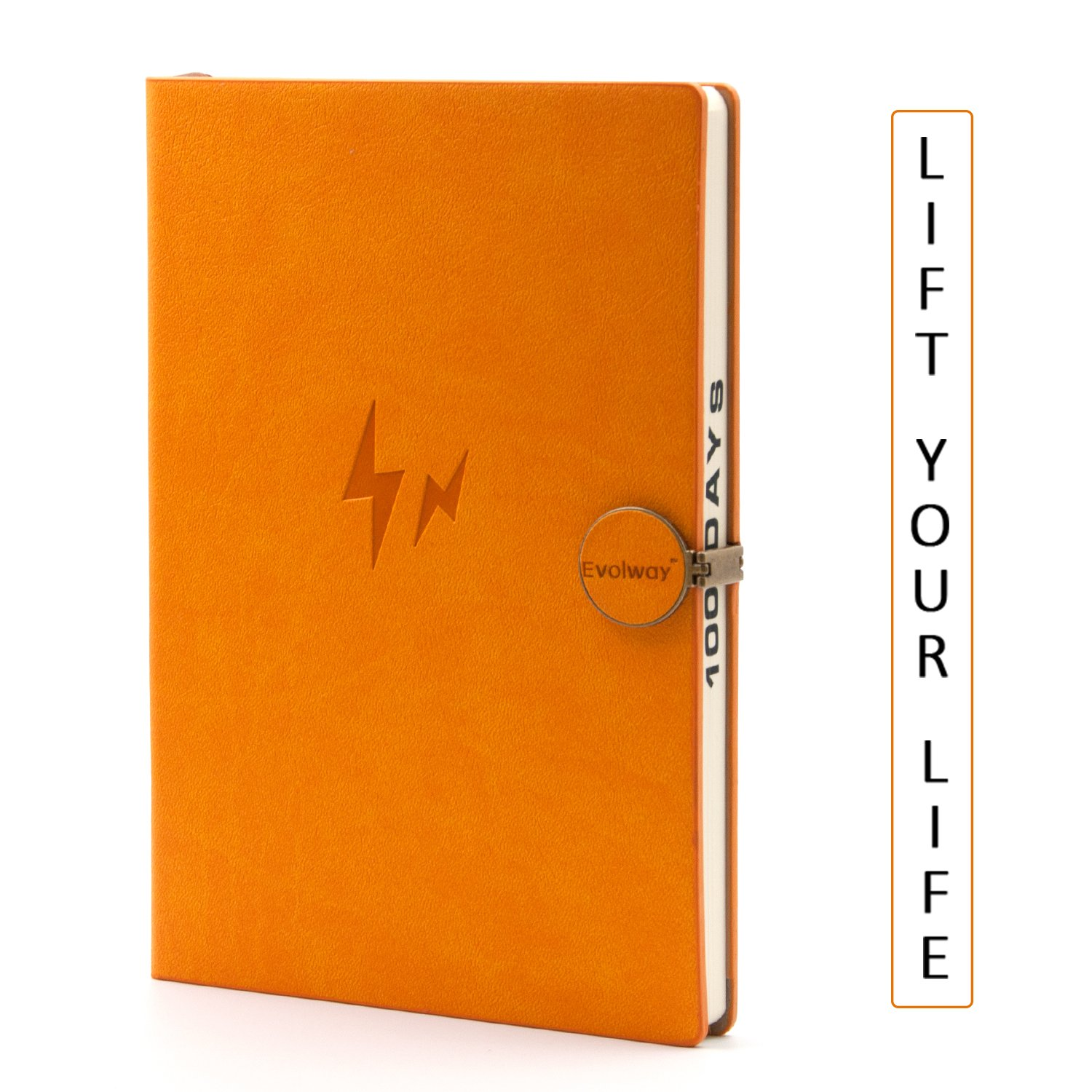 Evolway Fitness Workout Journal for Exercise Planner, Food Diary Log, Pu Leather Notebook with Magnetic Metal Buckle Fitness Notebook