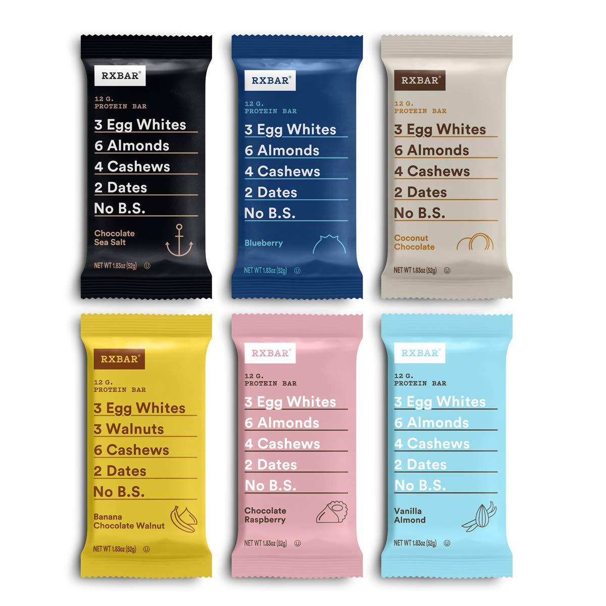 RXBAR Protein bar, Fan Favorite Variety Pack, 12ct, 1.83 Oz