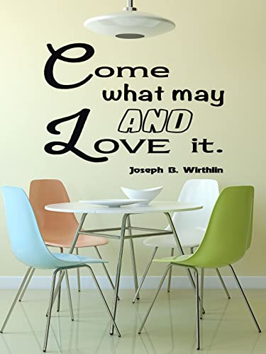 Amazon.com: Christian Quotes Wall Decals, Come What May And Love It ...