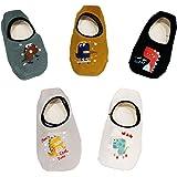 JT-Amigo Calcetines Antideslizantes para Bebés Niños (Pack de 5 Pares), Set 2, 3-5 años
