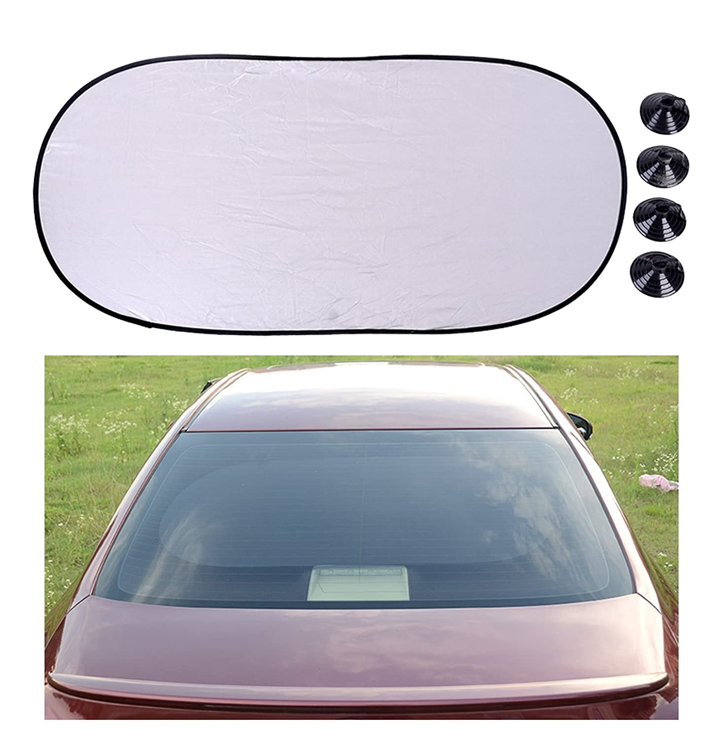 Chytaii Car Sunshades for rear Window Car Rear Window Sun Blind Shield Shade Car Back Window Sun Blind UV Protection and Heat Insulation for Children Baby Pets Foldable with Suction Cups 100*50cm