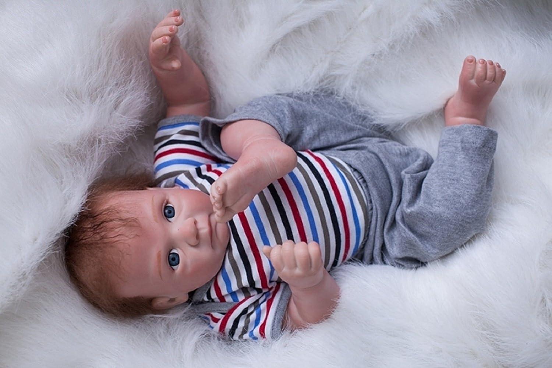 HOOMAI 20inch 50CM Puppe Reborn Babys Junge silikon lebensecht Girl schlafend doll mä dchen Magnetisches Spielzeug