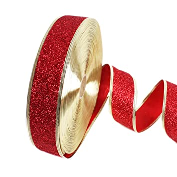 christmas colored ribbon 1957874gold glitter powder ribbon christmas