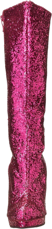 ELLIE 421-ZARA 4 Knee High Boot With Glitter Women Fuchsia w//Glitter 5 Size