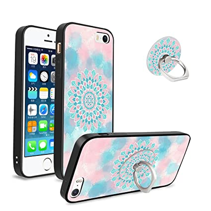 4a77dcaaa02 Mandala Case with Kickstand for iPhone 5/5s/SE, Unique Protective Soft TPU