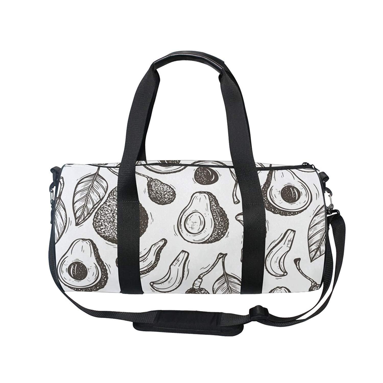 Gym Bag Fashion Comic Unicorn Rainbow Emoji Women Yoga Canvas Duffel Bag  Cute Sports Bag for Girls