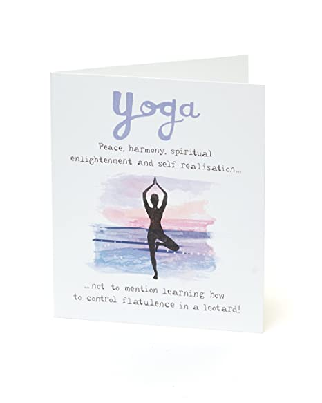Amazon.com: Funny Humour Birthday Card for Her - Yoga Joke ...
