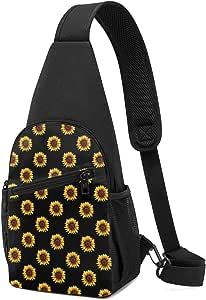 PGTry Sunflower Sling Bag - Mochila ligera para el hombro, mochila para el pecho, bolsa cruzada, para viajes, senderismo, para hombres y mujeres