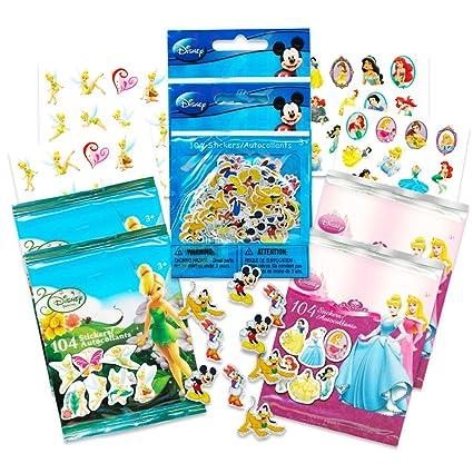 Amazon.com: Disney adhesivos fiesta de juego para niñas ...