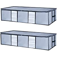 2-Pack Seckon Underbed Storage Bag with Clear Windows
