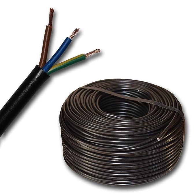 Plástico - Manguera de cable redondo dispositivo Cable H05VV-F 3 x ...