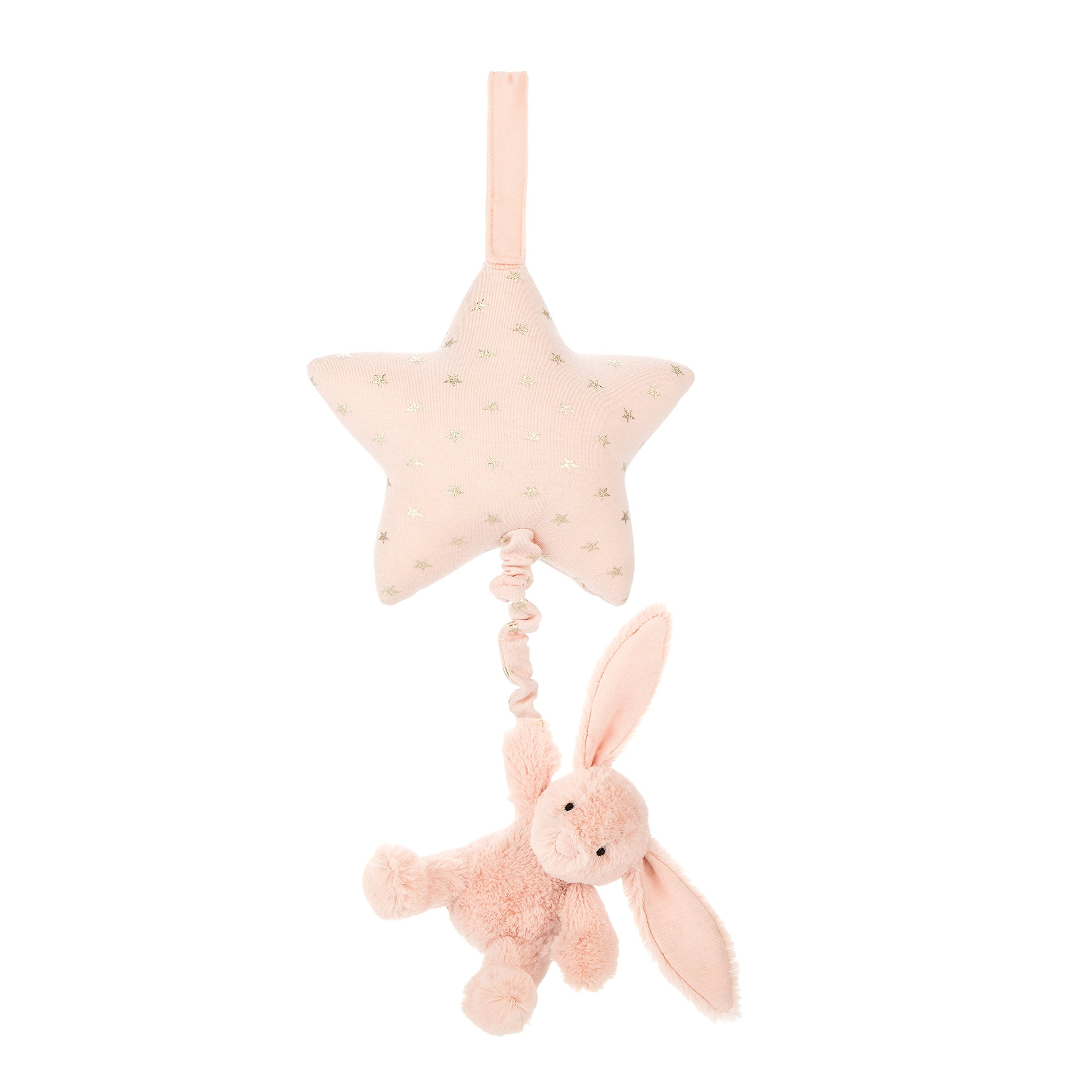 Jellycat Bashful Blush Bunny Musical Pull Baby Toy, 12 inches