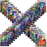 Anivia Jeux De Cartes 100 Pcs Pokemon Cartes Style TCG Holo EX Full Art 59 Cartes EX 20 Cartes Mega EX 20 Cartes GX 1 Énergie Carte Puzzle Jeu De Cartes Amusant