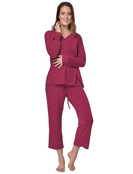 Raikou Pijama - para Mujer Borgoña X-Large