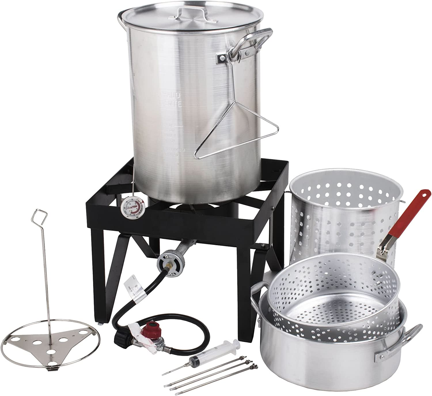 Cooper & Co Backyard Pro Deluxe 30 qt Aluminum Turkey Fryer