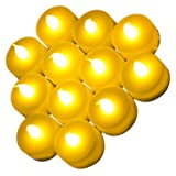 Shine 24 Flickering Candle Set Runs on Batteries Flickers Like a Real Candle Battery Operated Tealight Candles Flameless Candle Wedding Tea Light Two Dozen Long Lasting Batterry Life