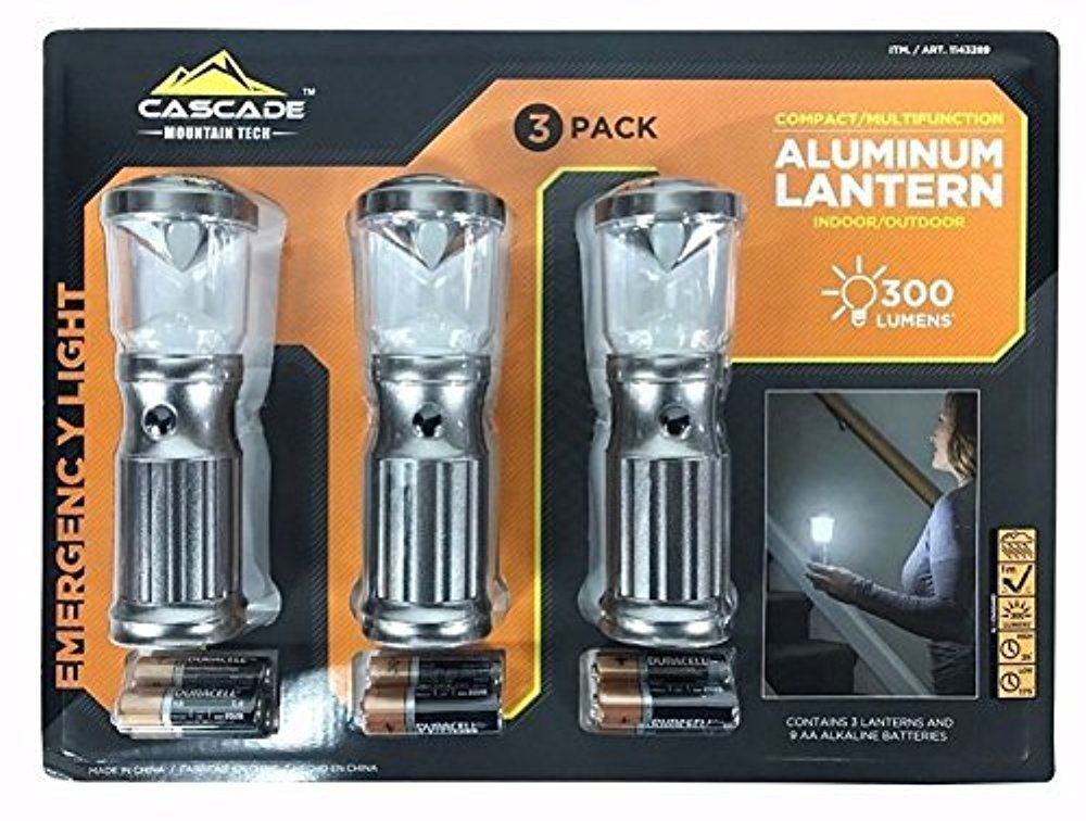 Aluminum Lanterns Indoor Outdoor Multifunction by Cascade Mountain Tech 3 Pack by Cascade