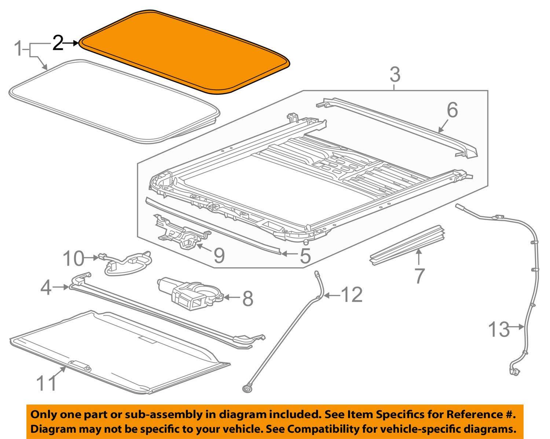 Amazon Com Genuine Gm Seal Part 22815954 Automotive 2005 Escalade 2006  Avalanche Sunroof Schematics