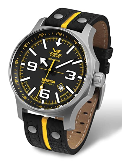 Amazon.com  Vostok-Europe Men s NH35A 5655196 Japanese Automatic ... b67d7f8f89e