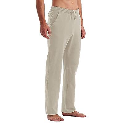 favmartha Mens Home Sweatpants Yoga Pants Loose Pajamas Pants