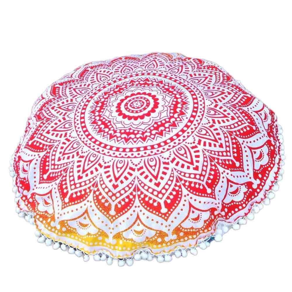 YWLINK 1PC Blanco 80 * 80cm Mandala Floor Almohadas Cojines ...