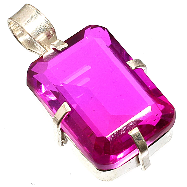 Best Jewelry Gift Pink Bi-Colored Tourmaline Gemstone Silver Necklace Pendants