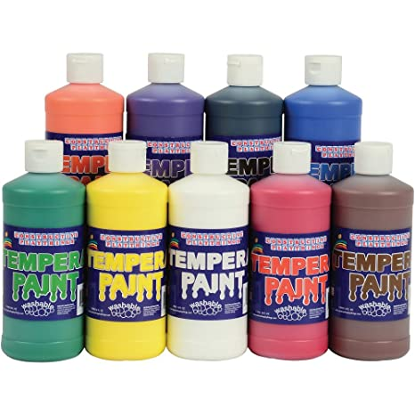 Constructive Playthings Cpx 056 Constructive Playthings Washable Tempera Paint   Set Of 9 Pints by Constructive Playthings