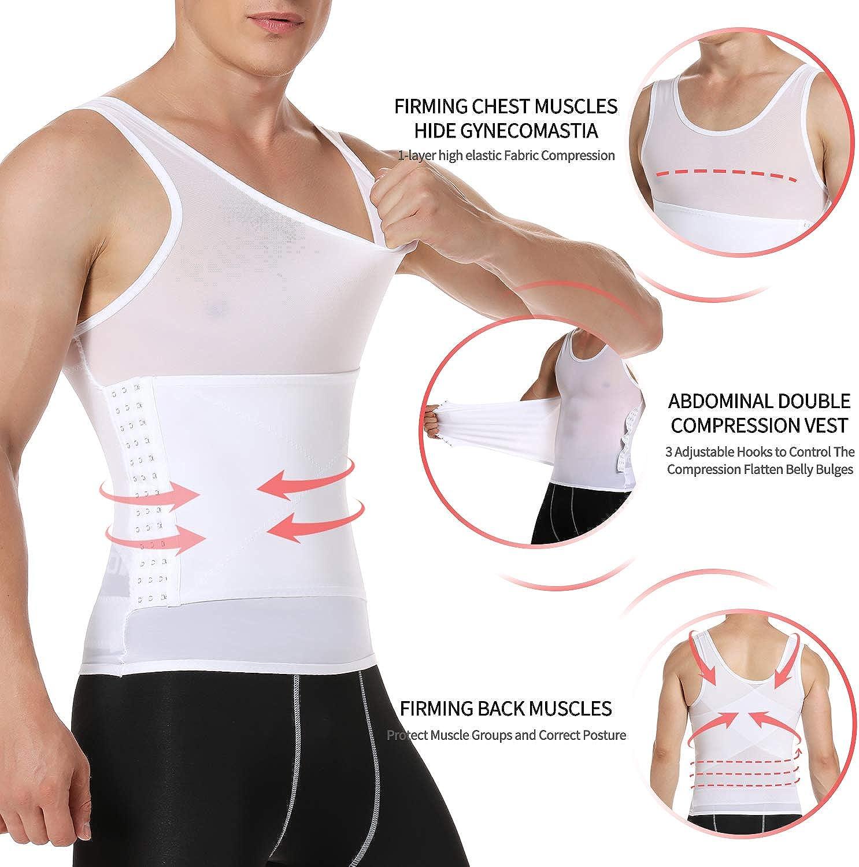 KIWI RATA Men Body Shaper Slimming Vest Ultra-Thin High-Elastic Compression Shirts Tummy Control Tank Top Belly Slimmer Underwear