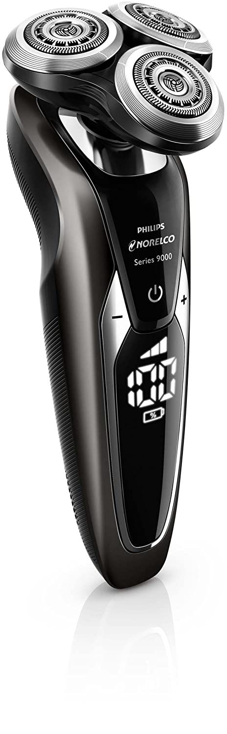 Philips Norelco Shaver 9700 with SmartClean, Rechargeable Wet Dry Electric Shaver with Cleansing Brush Attachment, S9721 89