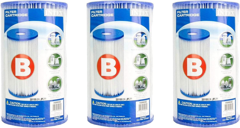 Intex 29005E Pool Easy Set Type B Replacement Filter Pump Cartridge – 3 Pack
