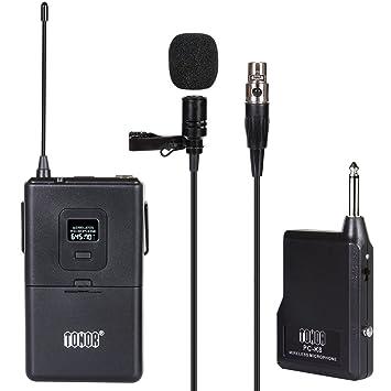 parcourir les dernières collections Beau design nouvelles promotions Microphone Cravate sans Fil VHF Micro Lavalier Revers avec Émetteur  Récepteur pour Parole Conférence Performance Scénique